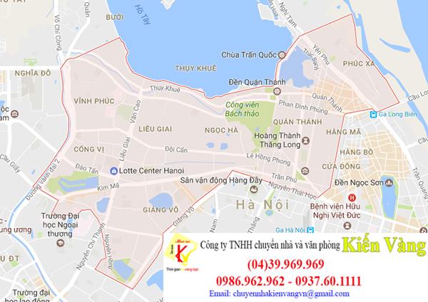 Dịch vụ chuyển văn phòng quận Ba Đình của Kiến Vàng