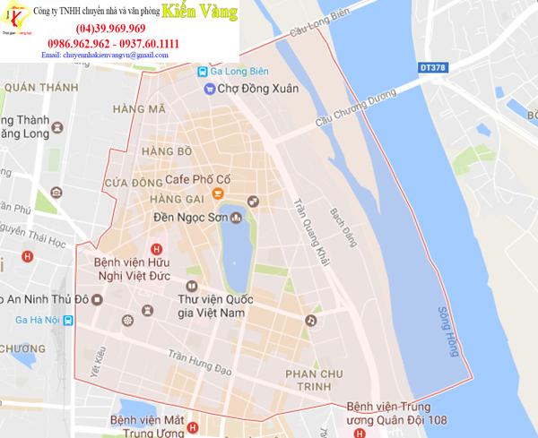 Dịch vụ chuyển văn phòng quận Hoàn Kiếm của Kiến Vàng
