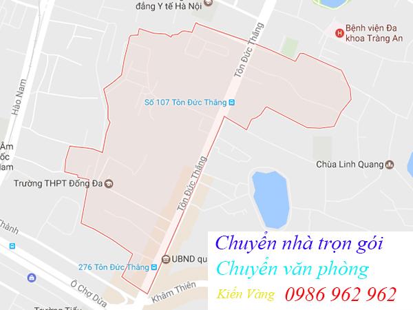 Chuyển nhà và văn phòng tại phường Hàng Bột, quận Đống Đa