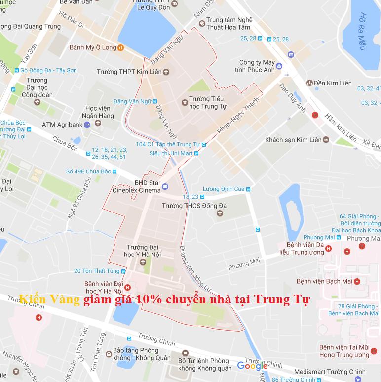 Khuyến mại 10% dịch vụ chuyển nhà tại Trung Tự